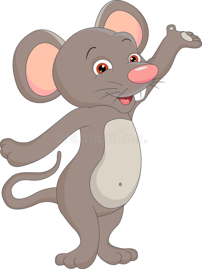 Desenhos animados bonitos do rato ilustração do vetor