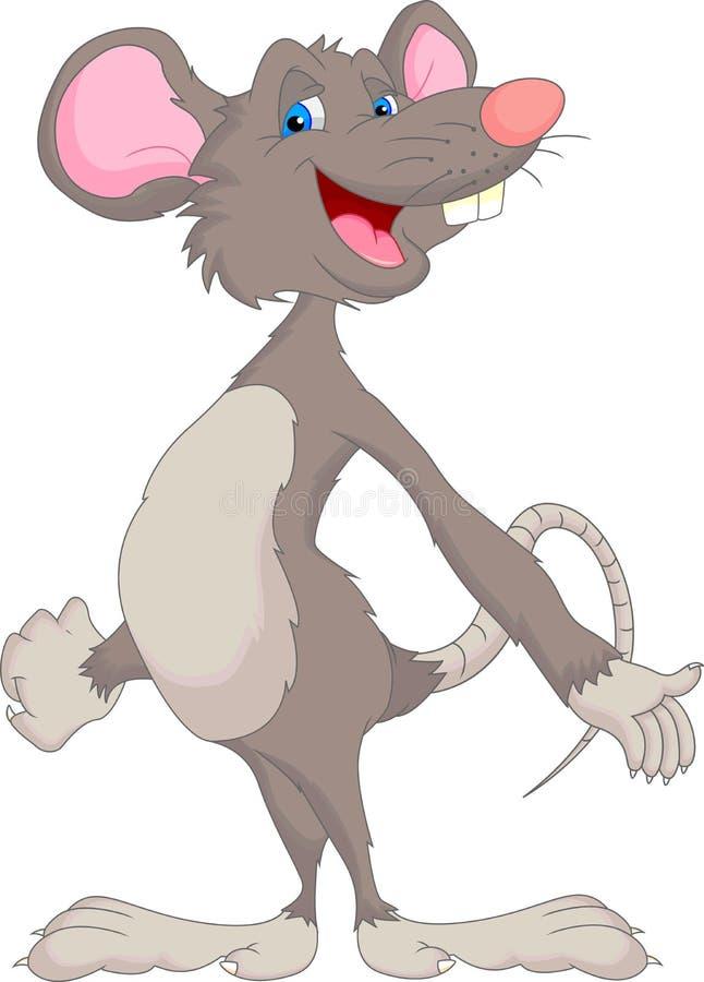 Desenhos animados bonitos do rato ilustração royalty free