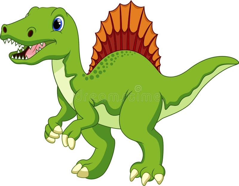 Desenhos animados bonitos do spinosaurus ilustração royalty free