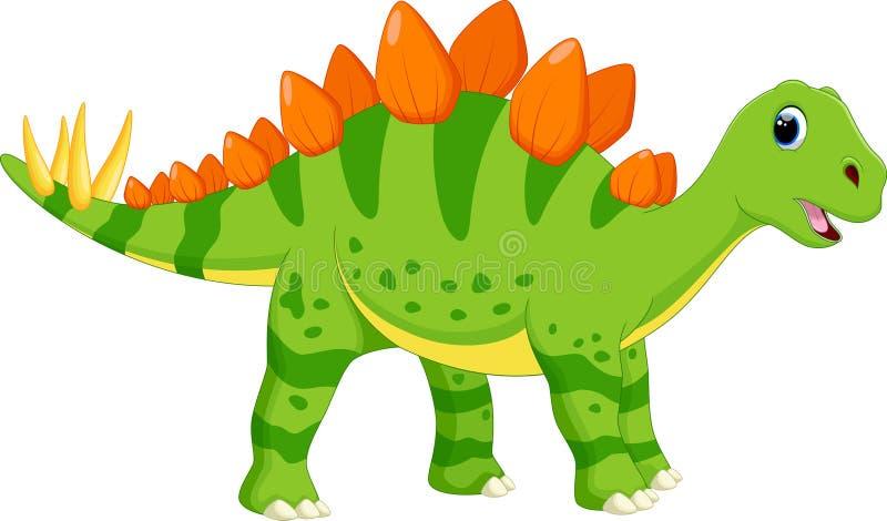 Desenhos animados bonitos do stegosaurus ilustração royalty free