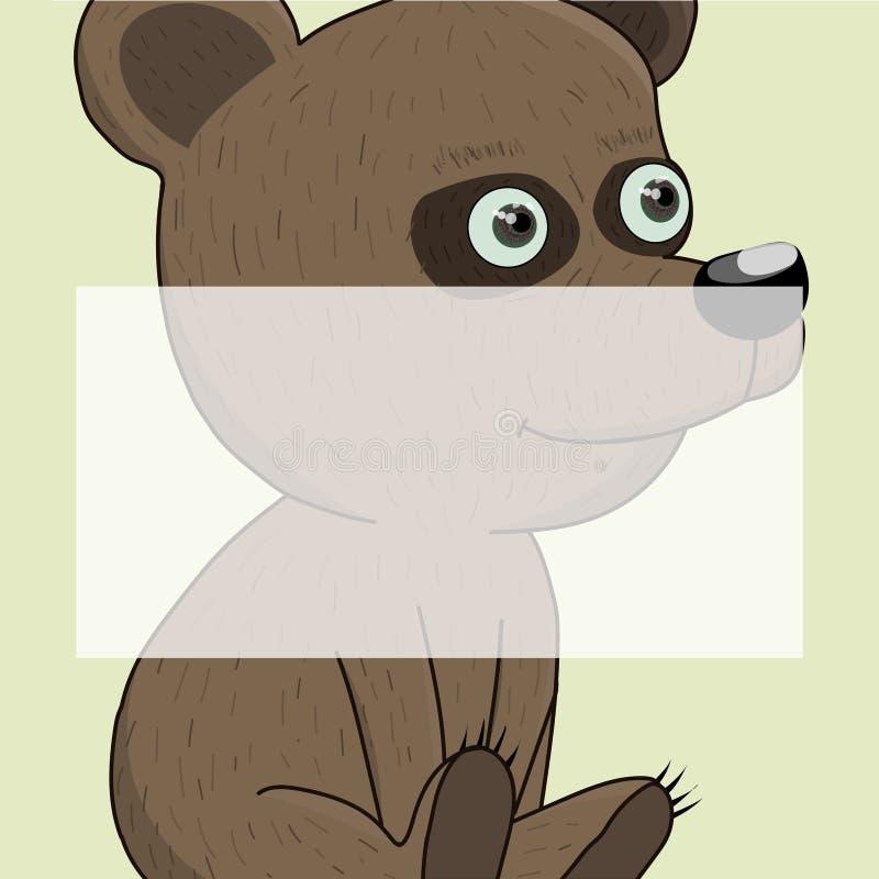 Desenhos animados bonitos do urso do bebê ilustração royalty free