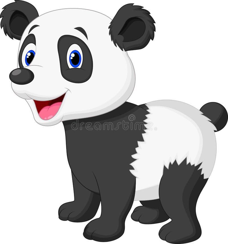 Desenhos animados bonitos do urso de panda ilustração do vetor