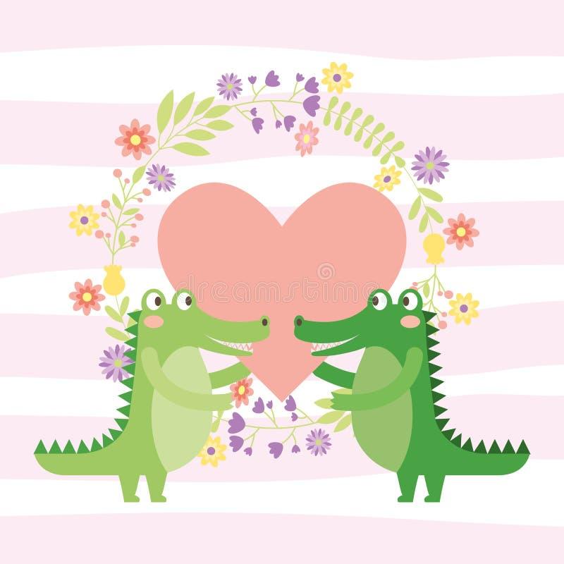 Desenhos animados bonitos dos animais ilustração royalty free