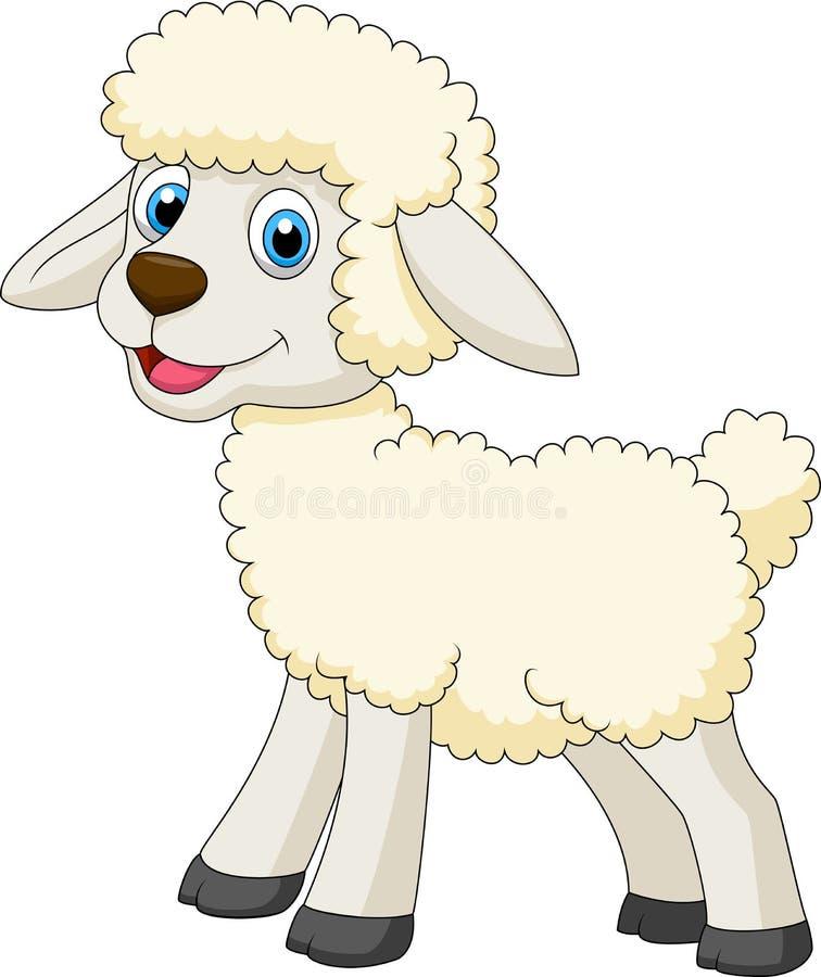 Desenhos animados bonitos dos carneiros ilustração royalty free