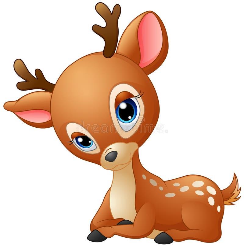 Desenhos animados bonitos dos cervos do bebê ilustração do vetor