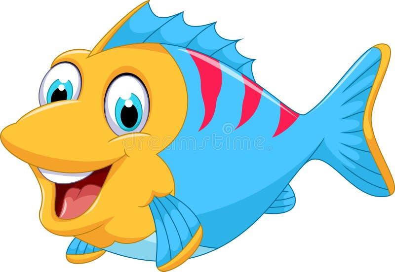 Desenhos animados bonitos dos peixes para você projeto ilustração stock