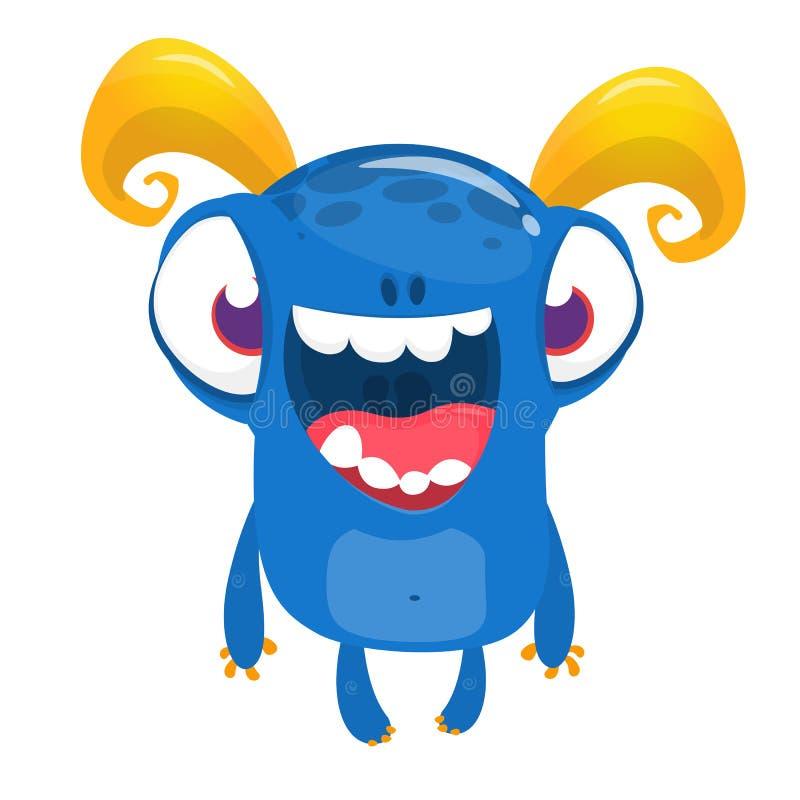 Desenhos animados bonitos estrangeiro de sorriso excitado ilustração royalty free
