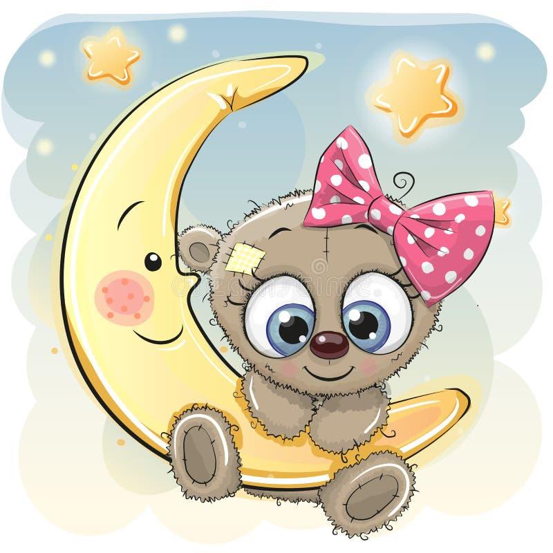 Desenhos animados bonitos Teddy Bear Girl ilustração do vetor