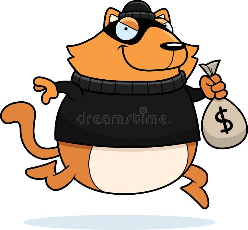 Desenhos animados Cat Burglar ilustração do vetor