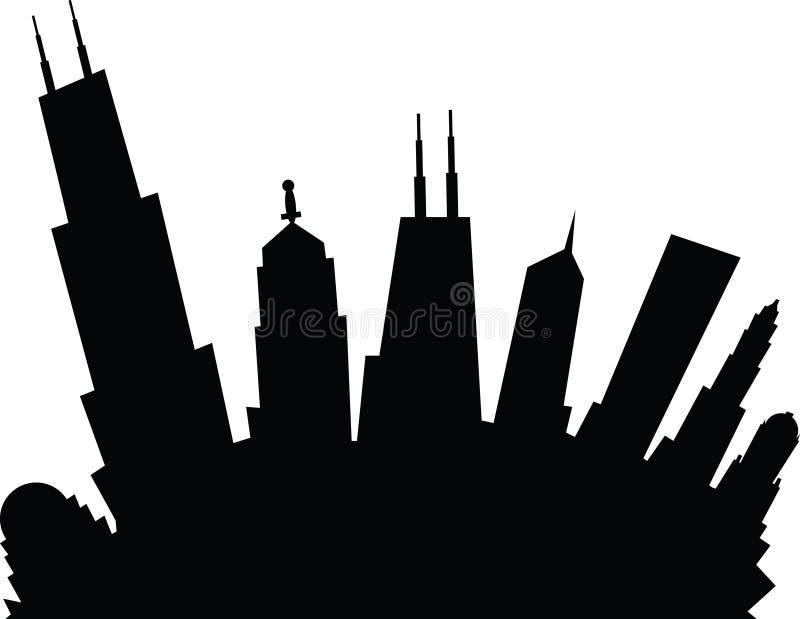 Desenhos animados Chicago ilustração do vetor