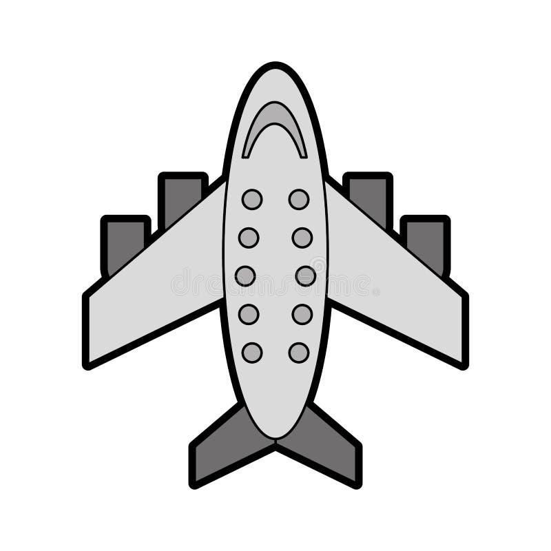 Desenhos animados cinzentos do avião ilustração royalty free
