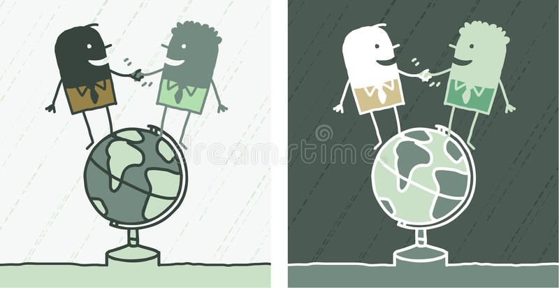 Desenhos animados coloridos amizade do mundo ilustração do vetor