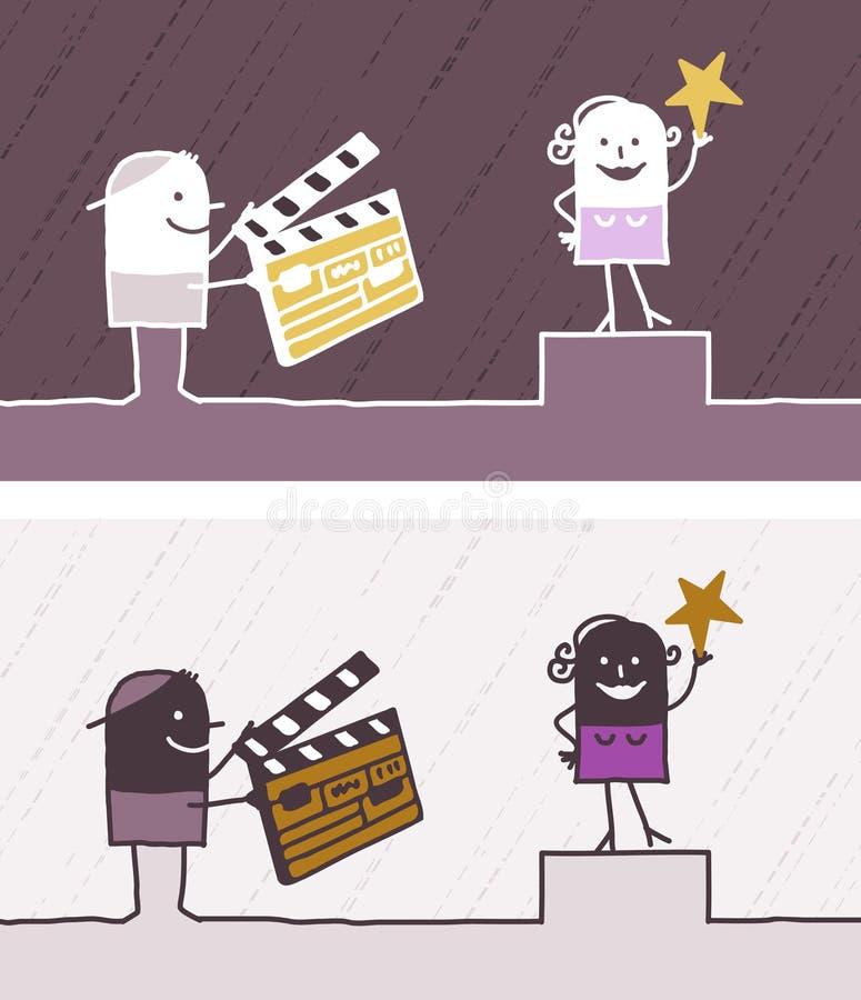 Desenhos animados coloridos cinema ilustração stock