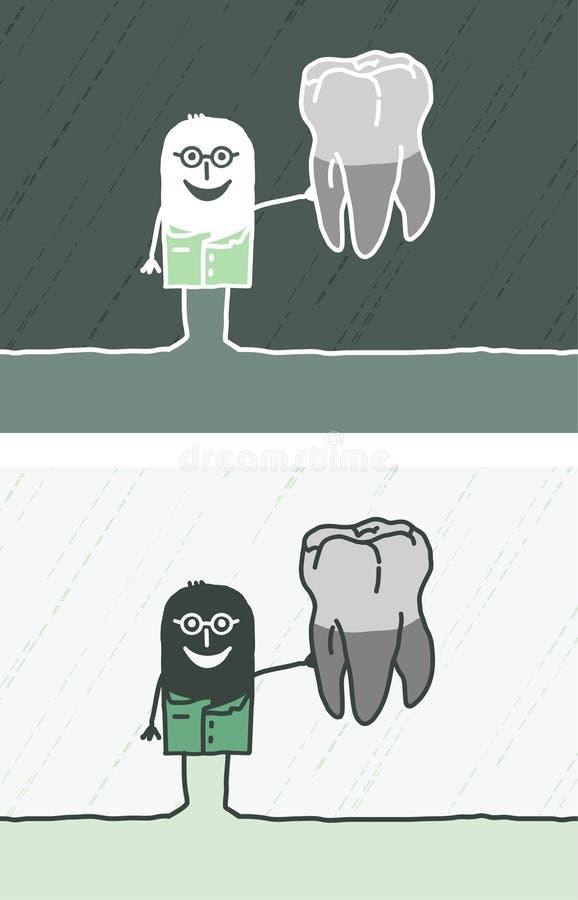 Desenhos Animados Coloridos Dentista Imagem de Stock
