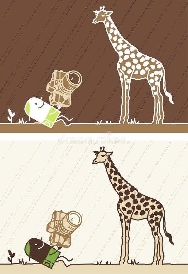 Desenhos animados coloridos Giraffe ilustração royalty free