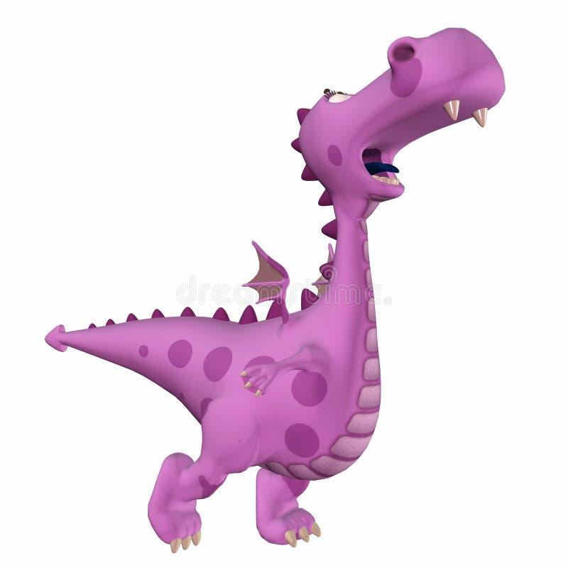 Dragon Cartoon cor-de-rosa imagem de stock royalty free