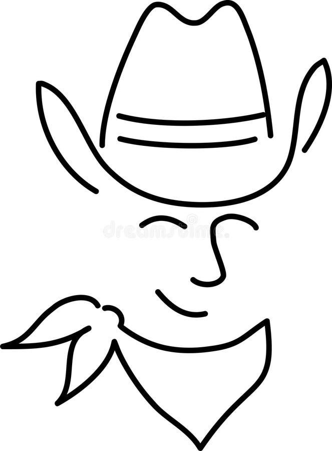 Desenhos animados Cowboy/ai ilustração royalty free