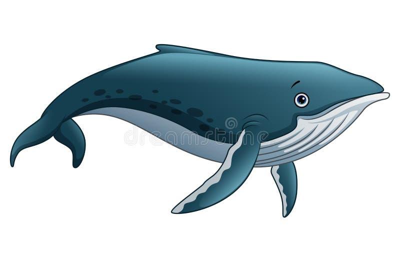 Desenhos animados da baleia de esperma ilustração stock