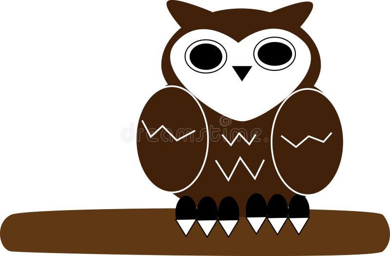 Desenhos animados da coruja imagens de stock