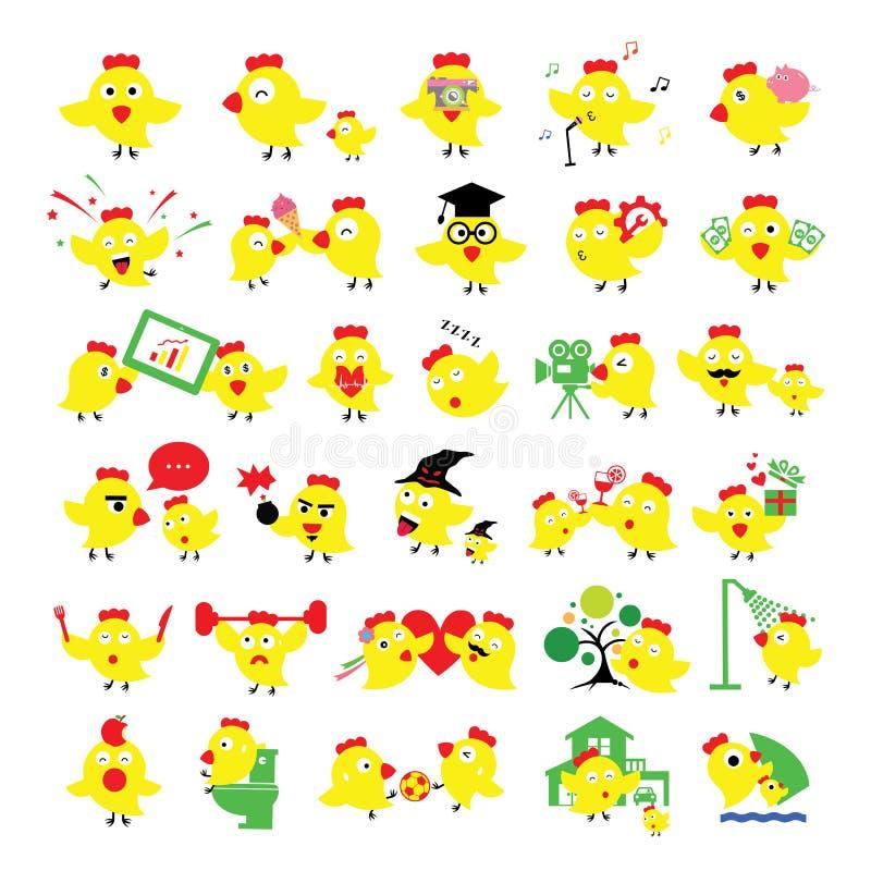 Desenhos animados da galinha ilustração stock