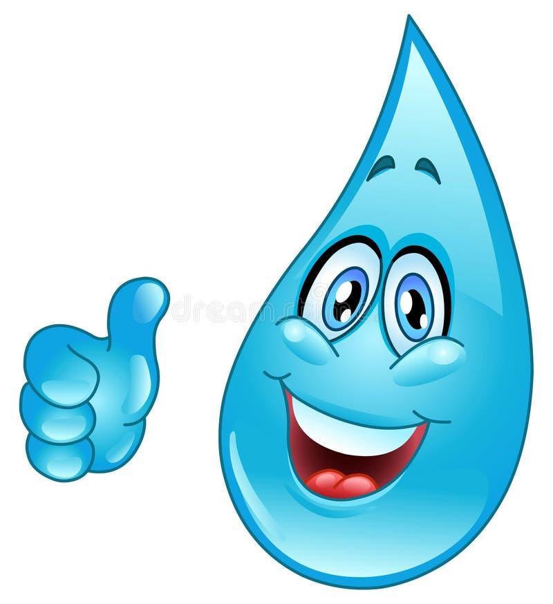 Desenhos animados da gota da água ilustração do vetor