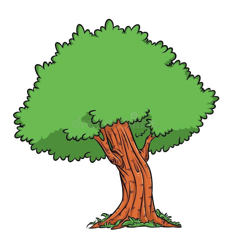 Desenhos animados da ilustração do carvalho árvore