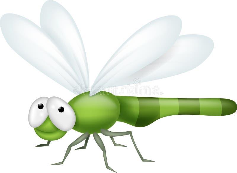 Desenhos animados da libélula ilustração royalty free