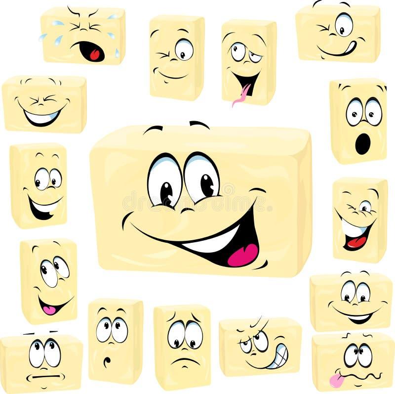 Desenhos animados da manteiga dos desenhos animados da manteiga ilustração do vetor