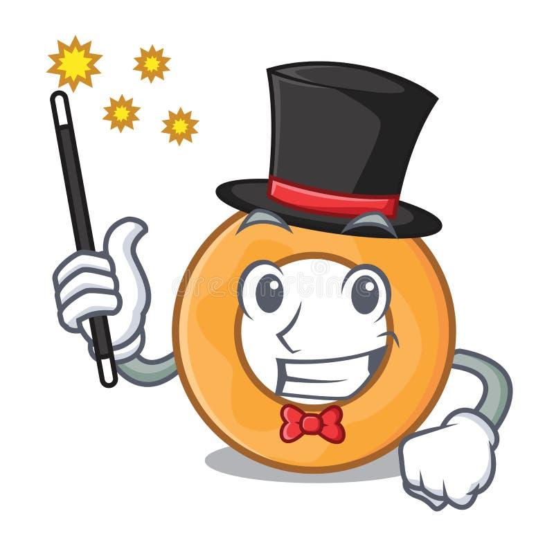 Desenhos animados da mascote do anel de cebola do mágico ilustração royalty free