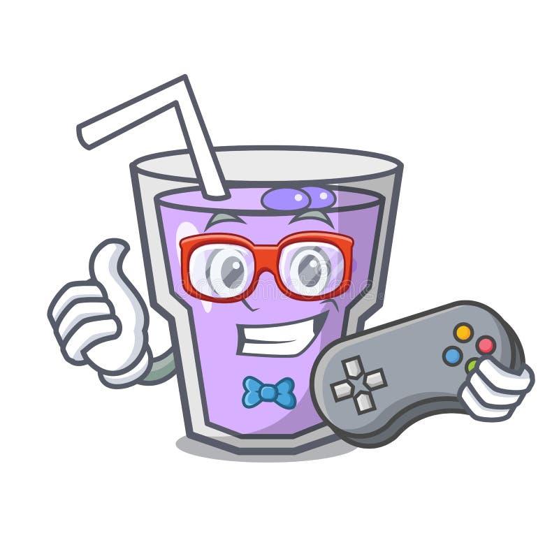 Desenhos animados da mascote do batido da baga do Gamer ilustração royalty free