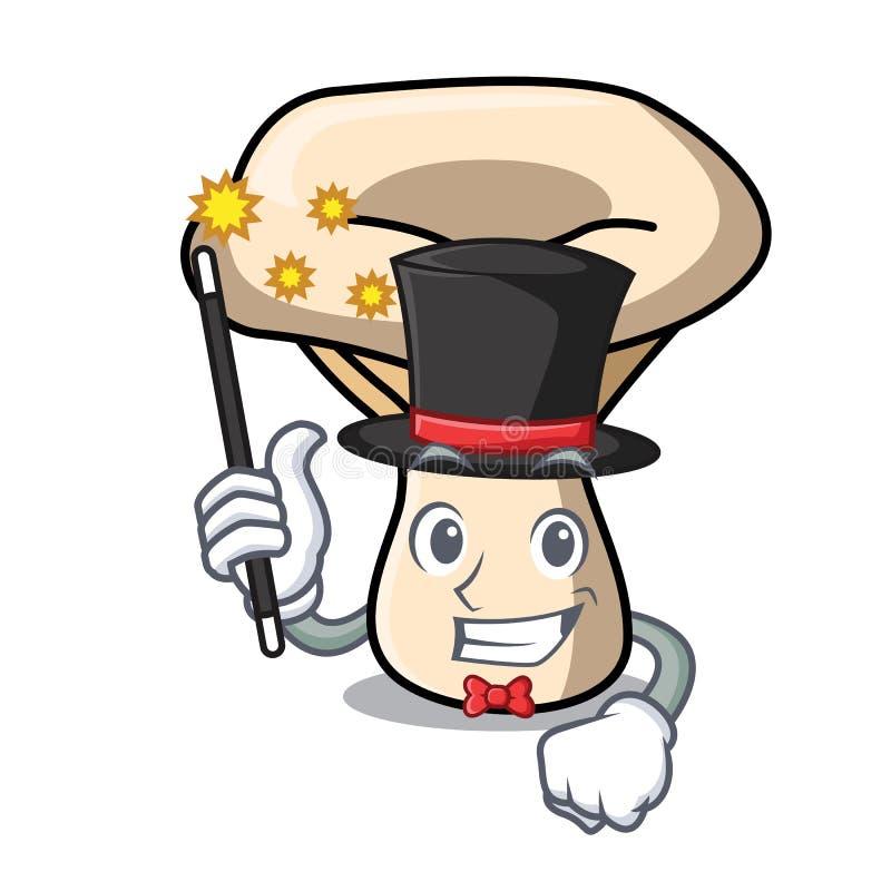 Desenhos animados da mascote do cogumelo do leite do mágico ilustração stock