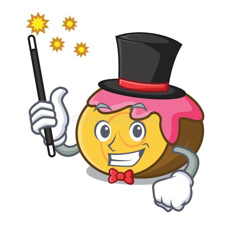 Desenhos animados da mascote do rolo suíço do mágico ilustração stock