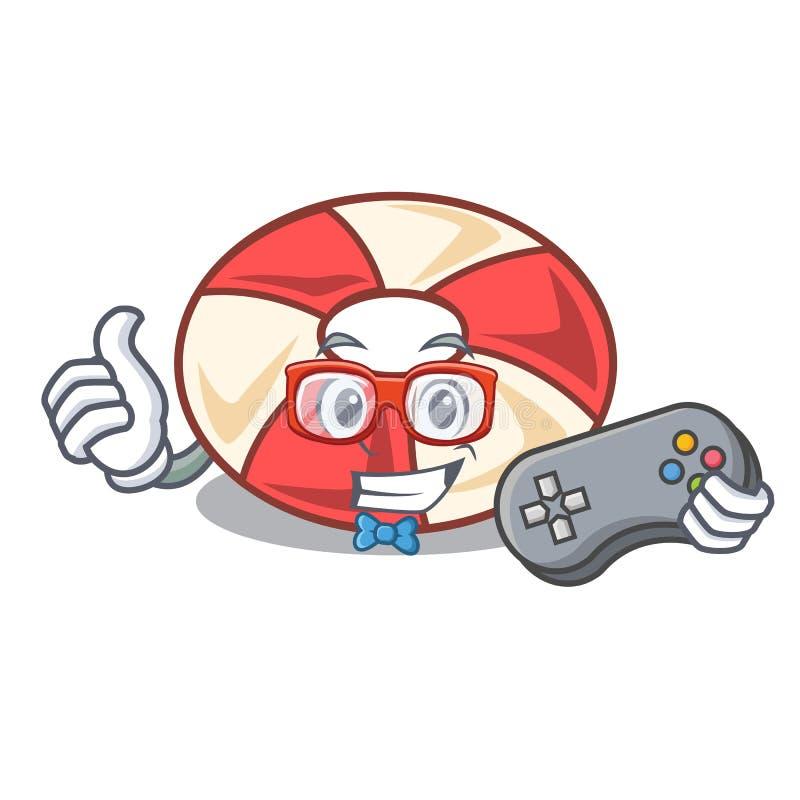 Desenhos animados da mascote do tubo da nadada do Gamer ilustração stock