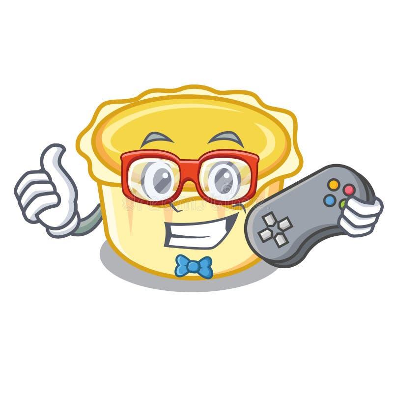 Desenhos animados da mascote da galdéria do ovo do Gamer ilustração royalty free