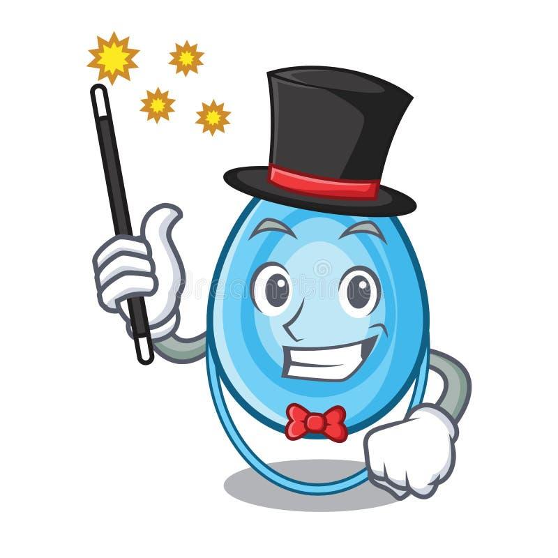 Desenhos animados da mascote da máscara de oxigênio do mágico ilustração royalty free