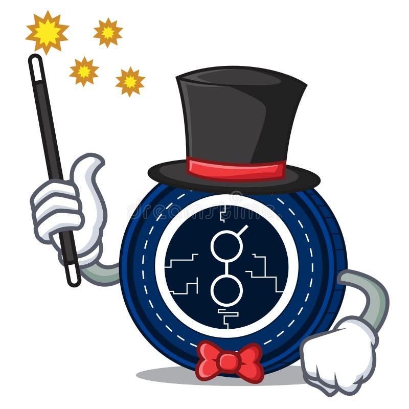 Desenhos animados da mascote da moeda do golem do mágico ilustração do vetor