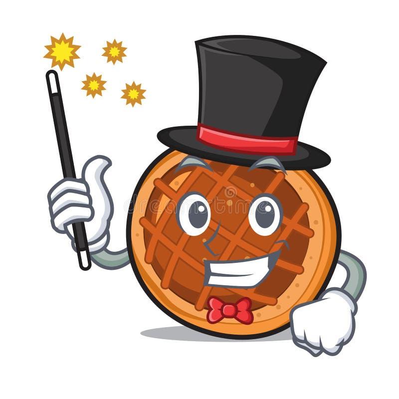 Desenhos animados da mascote da torta do baket do mágico ilustração do vetor