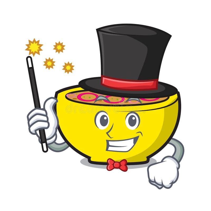 Desenhos animados da mascote da união da sopa do mágico ilustração royalty free