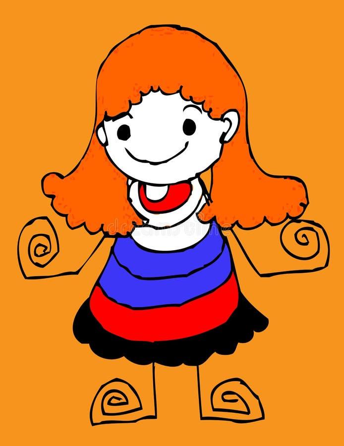 Desenhos animados da mulher ilustração royalty free