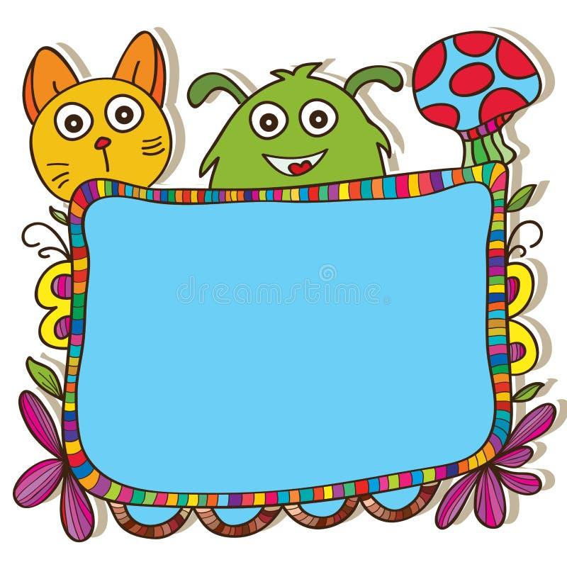 Desenhos animados da placa coloridos ilustração stock
