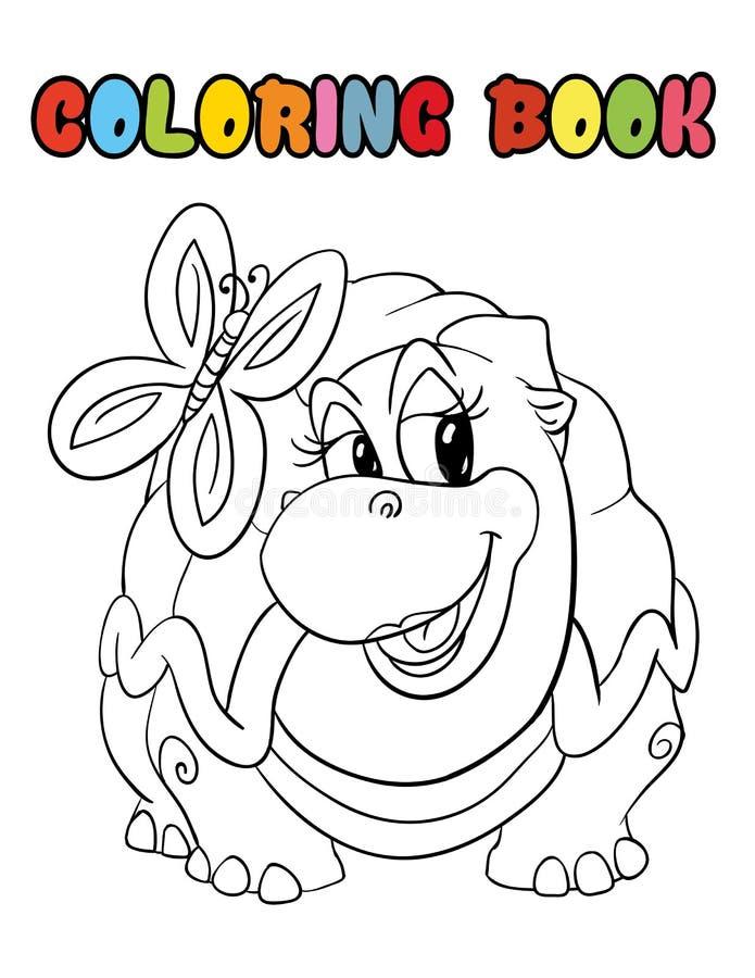 Desenhos animados da tartaruga do livro para colorir fotos de stock