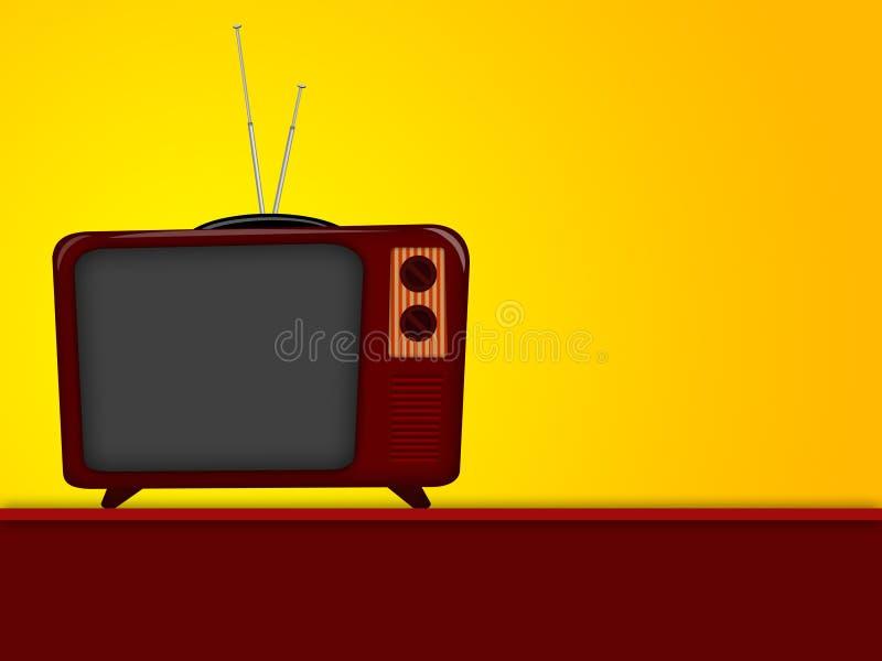 Desenhos animados da televisão velha ilustração stock