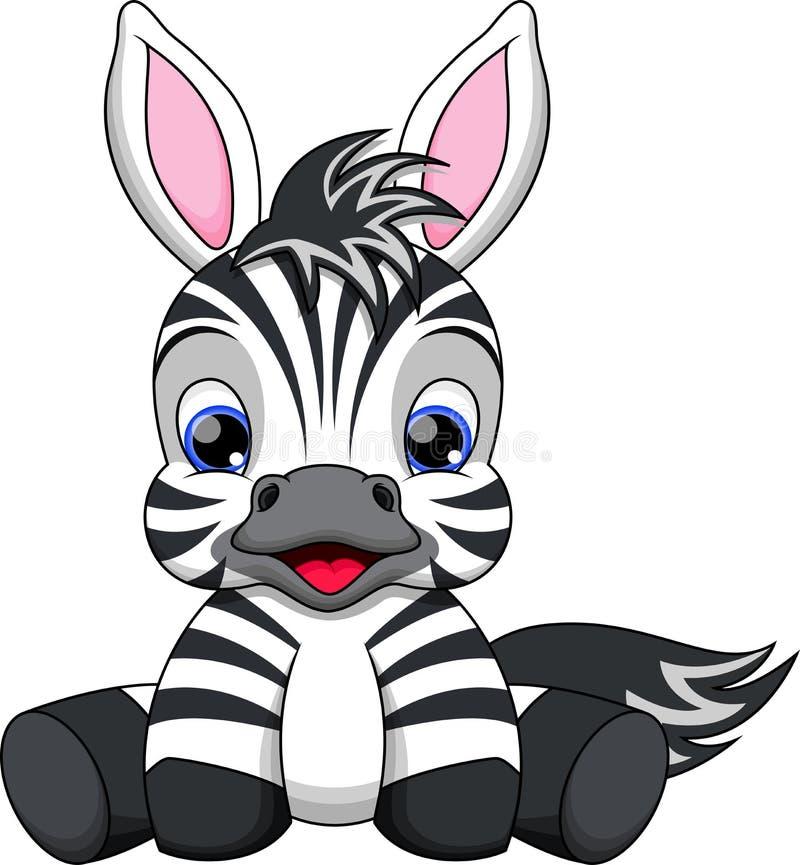 Desenhos animados da zebra do bebê
