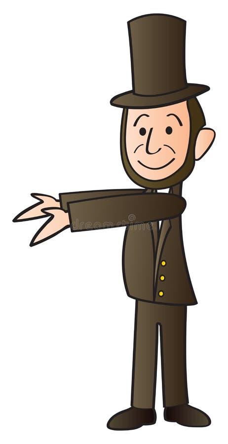Desenhos animados de Abraham Lincoln ilustração do vetor