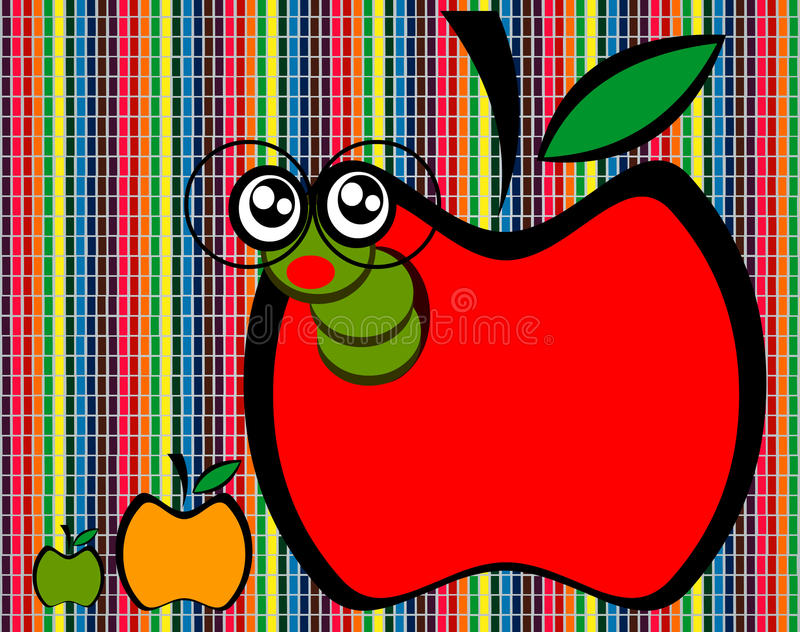 Desenhos animados de Apple imagens de stock