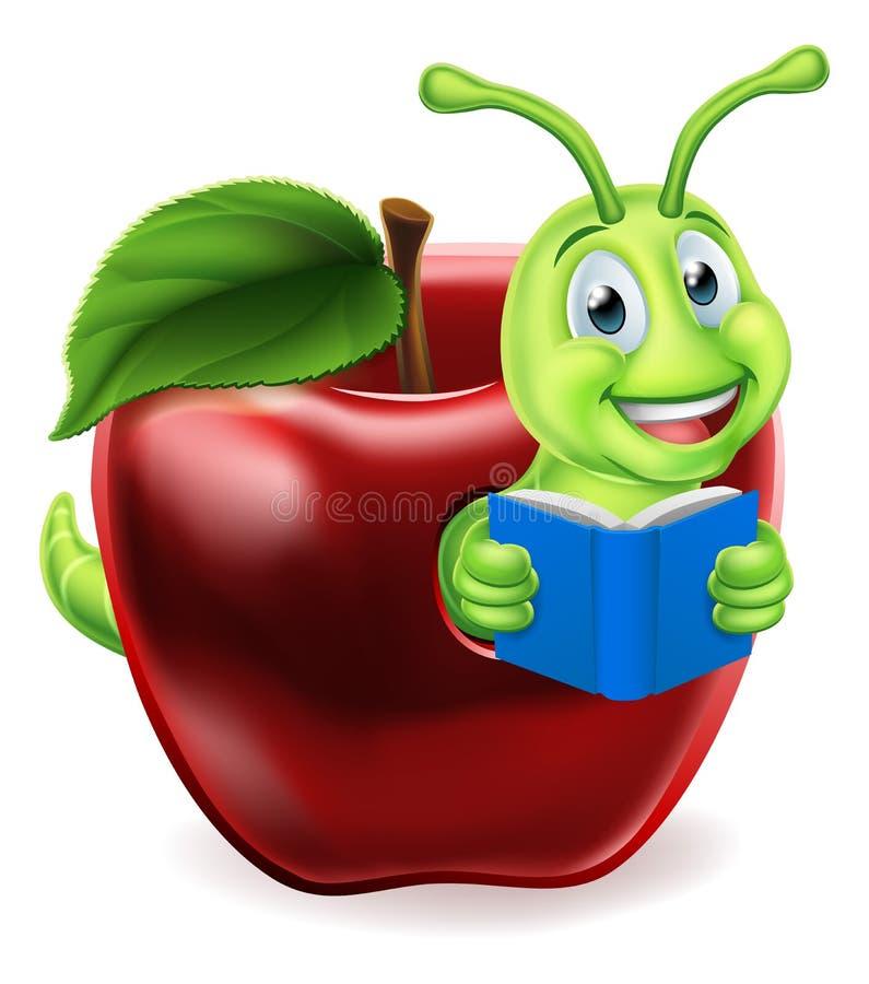 Desenhos animados de Apple do sem-fim de livro ilustração do vetor