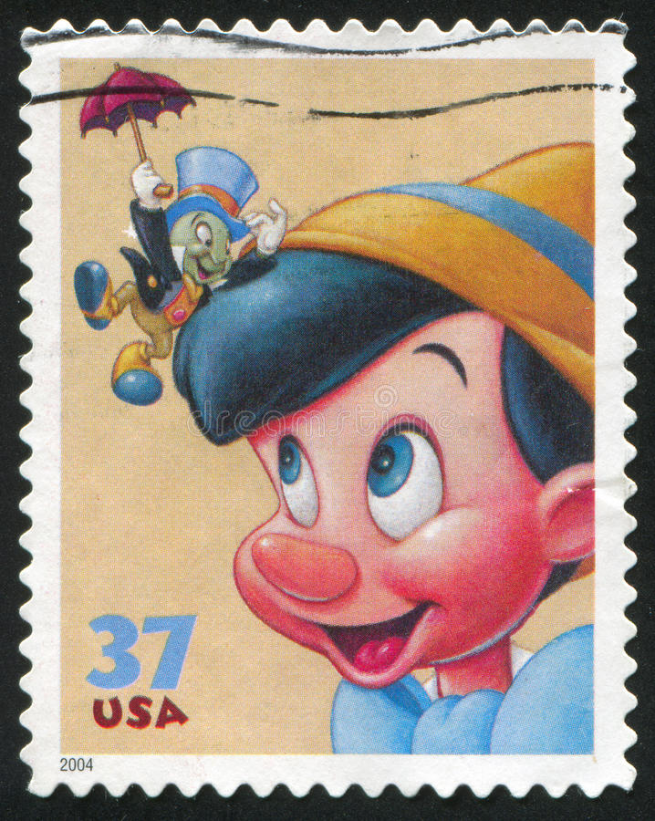 Desenhos animados de Disney imagem de stock