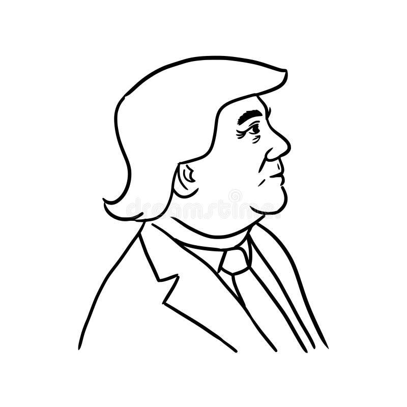 Desenhos animados de Donald Trump ilustração stock