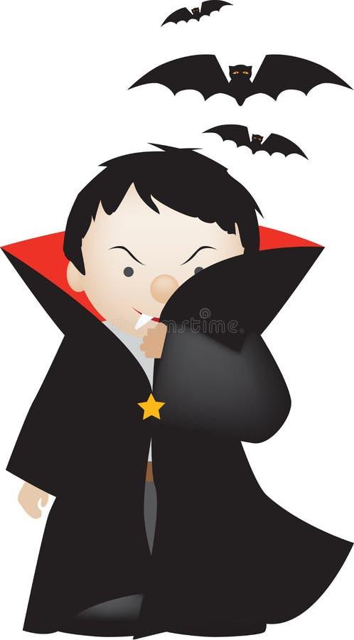 Desenhos animados de Dracula ilustração do vetor
