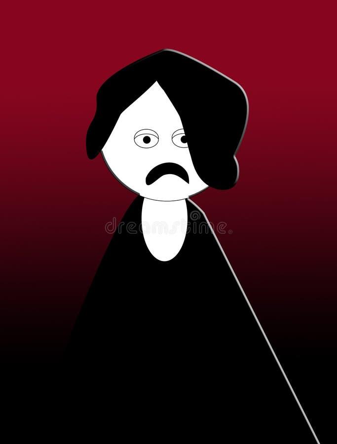 Desenhos animados de Emo ilustração do vetor